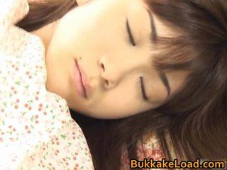 Asuka ohzora hawt aziatisch model acquires seks cream