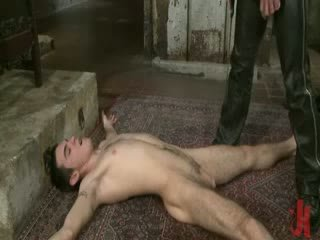 Shaved chick homo boy brutally fucked and abused in total bdsm fetish sexual scene