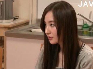 brunetă, japonez, cumshot