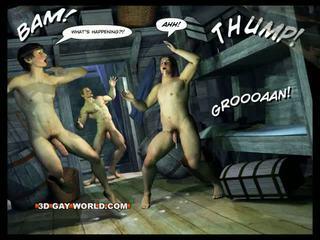 homoseksuāls, adventure, karikatūra