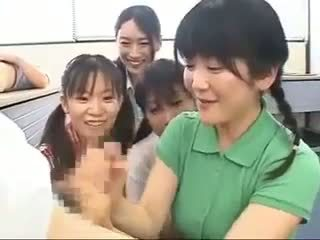 japonês, handjobs, cfnm