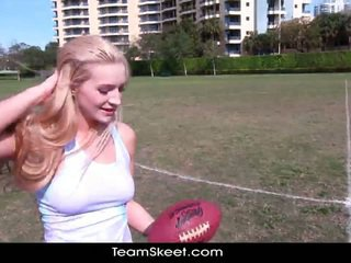 TheRealWorkout Sleaze Blonde Addison Avery Made Love After Football Training