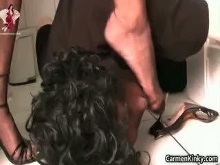 brunetta, anale, femdom