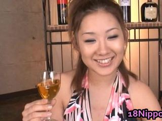 Asian Teen Babe Acquires Warm Facial