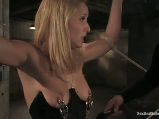 Wet Blondie Has Hogtied And Suspended For BSDSM Rapture