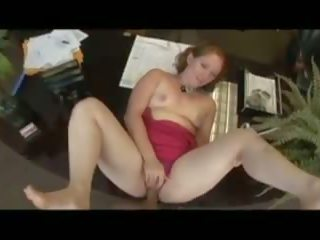 Redhead Bitch gets Fucked at the Office with Deep.