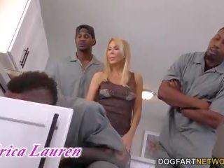 Anaal slet cougar erica lauren interraciaal gangbang: porno 4a