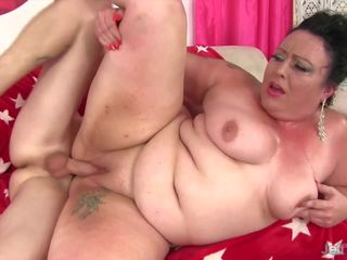 Madura gordita takes grande joven polla, gratis porno 5c