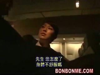日本, 口交, stewardess