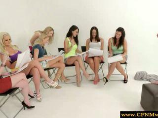 Femdom Cfnm Sketch Artists Jerk Nude Model