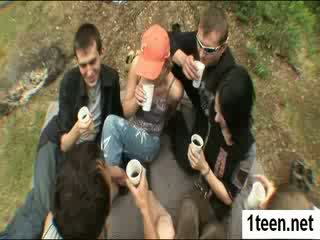 Alluring teenie getting gaped hard