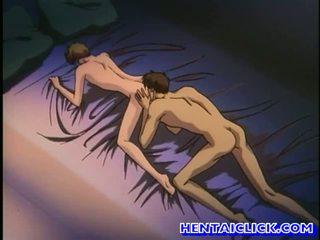 Anime gej got jego pants unbuttoned i fucked