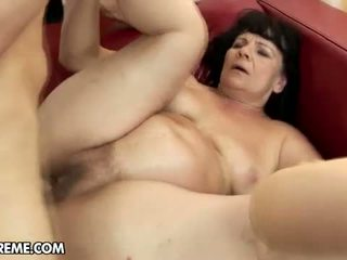 Hairy Aged Female Helena May Is Boned By The Stranger