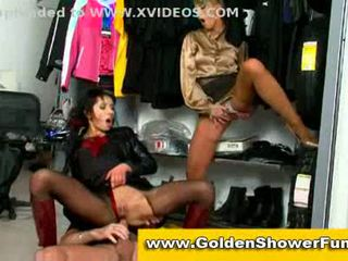 Clothed piss fun