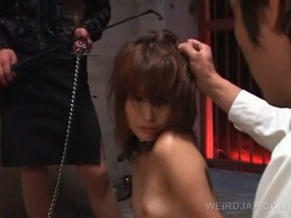 Asian Naked Sex Slave In Chains Blows Policemans Shaft