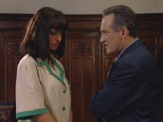 bruneta, vyhodit práce, sát