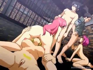 Anime orgie parodie