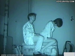 Infrared camera pengintip/voyeur bench park seks