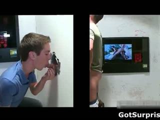 Sexy dude comes to the glory hole