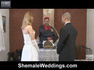 ミックス の carla, tony, alessandra バイ シーメール weddings
