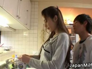 japanse, schoonheid, moeder