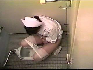 اليابانية ممرضة حمام masturbation