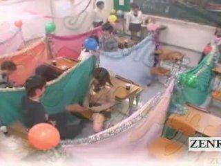 Subtitled japoni schoolgirls klasë masturbation cafe