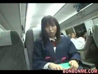 اليابانية, بالإصبع, طالبة