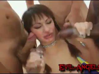 Kid ямайка - anita hengher brutally double анал gangbanged по неймовірно величезний cocks
