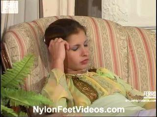 крак фетиш, складирането на секс, nylons feet