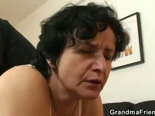 stary, 3some, babcia