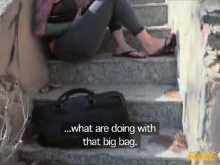 Fake ตำรวจ โดนจับได้ ด้วย a ใหญ่ ดิลโด้ และ ระยำ โดย a copper