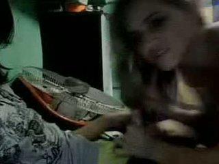 The fata și the clovn pe camera web