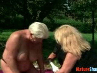 check granny tube, quality lesbian scene, threesome video
