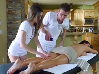 Brazzers - sexy plan a trois massage <span class=duration>- 7 min</span>