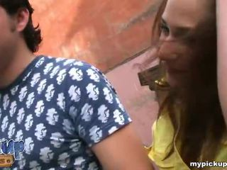 Hot girl gets banged on the stairs and cummed in her mouth Video