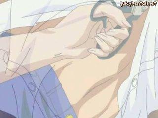 Nxehtë anime nanny me i madh gjinj