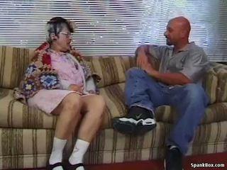 Oma gets reamed door jong man
