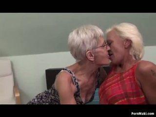 Lesbiete grannies having jautrība