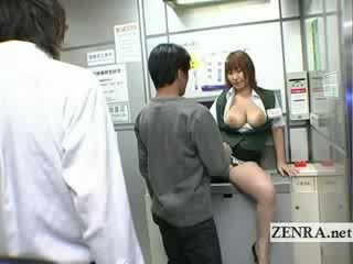 Dīvainas japānieši post birojs offers liels titty orāls sekss atm