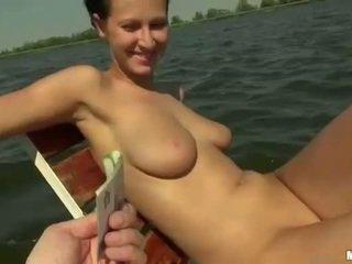 Busty Czech girl Nikol fucked on boat