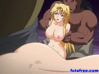 Blonde futagirl gets son holes pumped