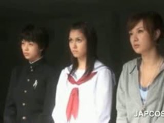 japanese, group sex, uniform