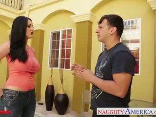 Busty brunette Sophie Dee suck and fuck cock