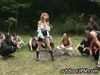 japoński zabawa, zabawa seks grupowy, świeży interracial oceniono