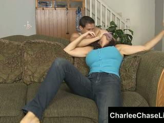 Charlee chase बाउंड tickled और पैर गड़बड़!