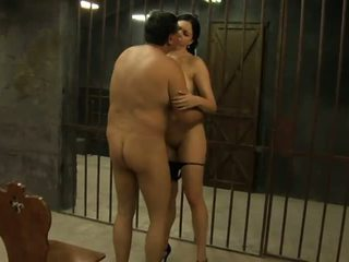 Young Hooker with Big Tits is Fucked by an Old Man