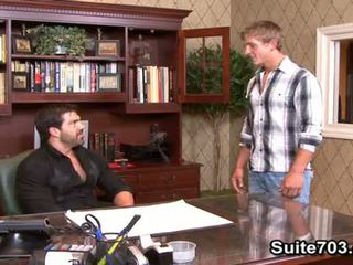 Horny gays Landon and Vince suck cocks