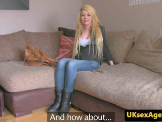 Blonde Uk Babe Sucks Cock at Sex Audition: Free HD Porn b2