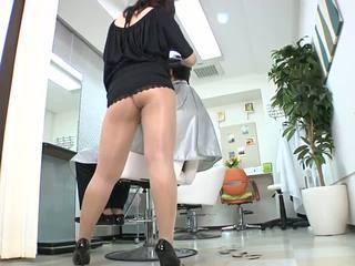 Reiko nakamori sexy barber im strumpfhose